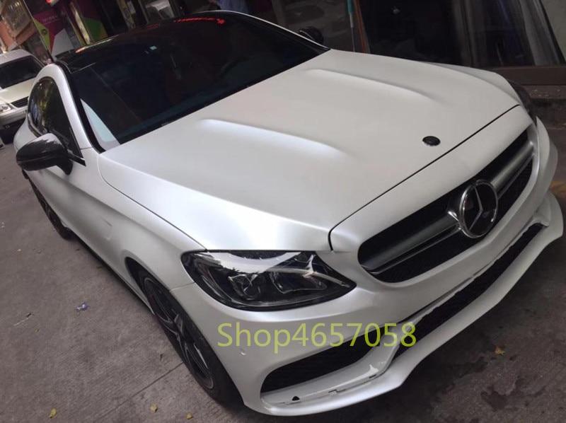 Haute qualité 1.52x18 m métal Flash Film Satin métallisé blanc voiture emballage vinyle PVC avec faible adhésif vinyle feuille rouleau