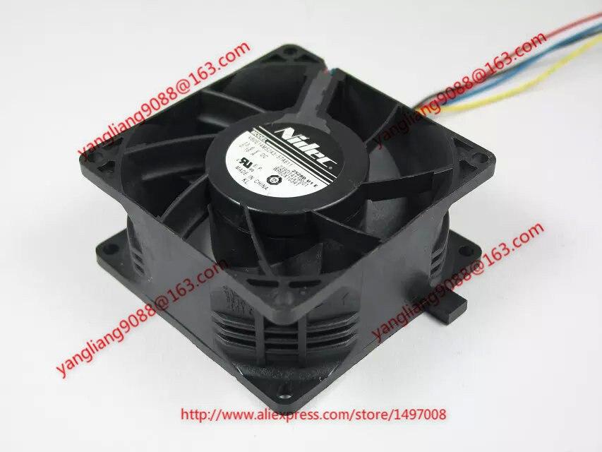 Nidec V80E14MS2A3-57A611 DC 13.6V 0.16A 5 fils 80x80x38mm serveur refroidisseur ventilateur