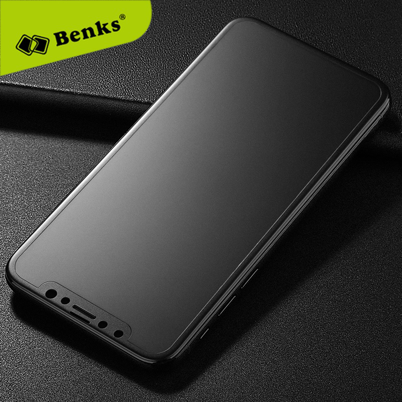 Benks Glass 3D KR+ Pro Matte for iPhone X Glass Front Full Cover iPhoneX Film Matte Tempered Glass for iPhone X Screen Protector