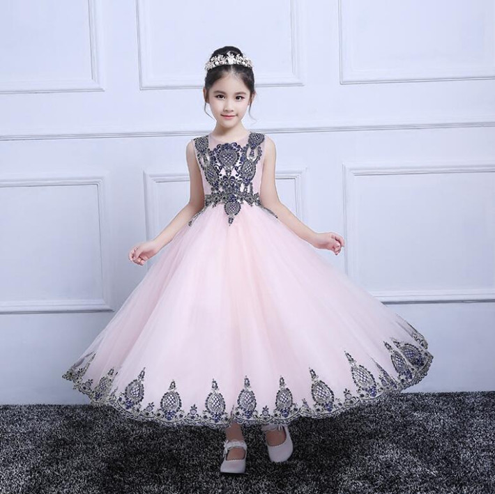 Actual Image High Quality Flower Girl Dresses Lace Applique Formal Ruffles Pageant Gowns Any Size недорго, оригинальная цена