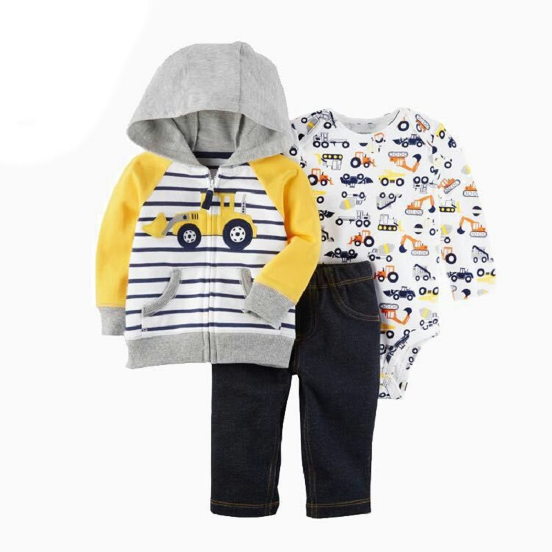 New baby boy cloth 3 pieces lot full sleeve New born baby boy clothes Casual Cotton Fashion Baby Clothes New Brand Clothes 3 pieces new chinese style spring winter girl boy baby brand fu cheongsam kid costume tangzhuang children set birthday cloth