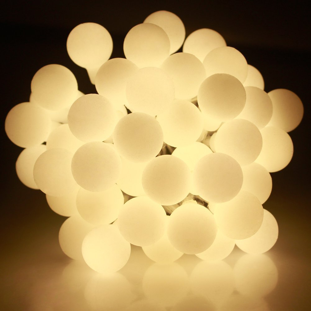 10M 100 LED Globe String Lights Varm Hvit / Hvit Ball Fairy Light for - Ferie belysning - Bilde 3