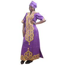 MD women maxi dress african print dresses for traditional womens headtie embroidery south africa clothing