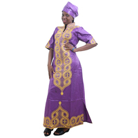 MD women maxi dress african print dresses for women traditional african women's dresses headtie embroidery south africa clothing