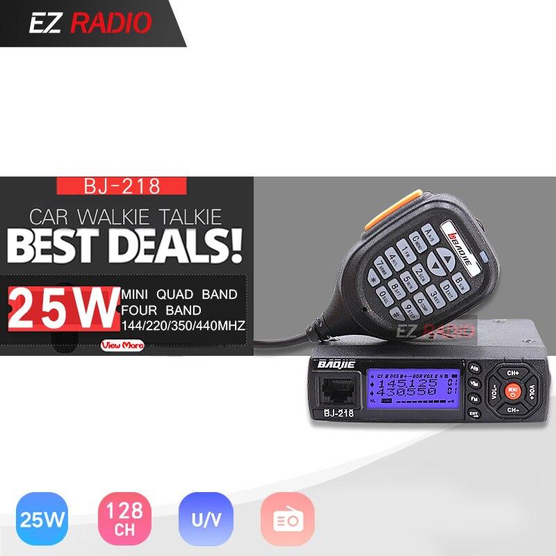 BJ-218 VHF UHF Mobile Radio 10 KM Z218 Mini Car Walkie Talkie 10 Km Dual Band Walkie-talkie 10 Km Professional Car Radios Cheap