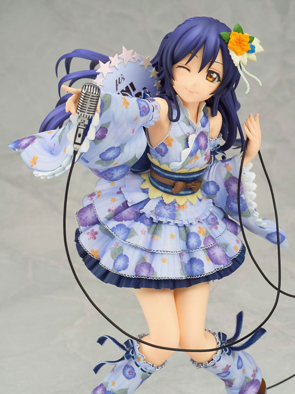 21cm LoveLive! Love Live kimono Sonoda Umi Action figure toys doll collection love live cosplay lovelive school idol project nico kotori nico eli umi hanayo maki nozomi rin flower fairy idolized prop wings