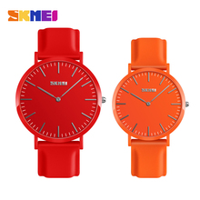 Skmei Quartz Couples Lovers Watch Ladies Mens Top Brand Luxury Watches Fashion Casual Leisure Silicone Waterproof Wristwatches watch womens vilam brand fashion casual soft silicone quartz watch wristwatches for women ladies lovers diamond crystal watches