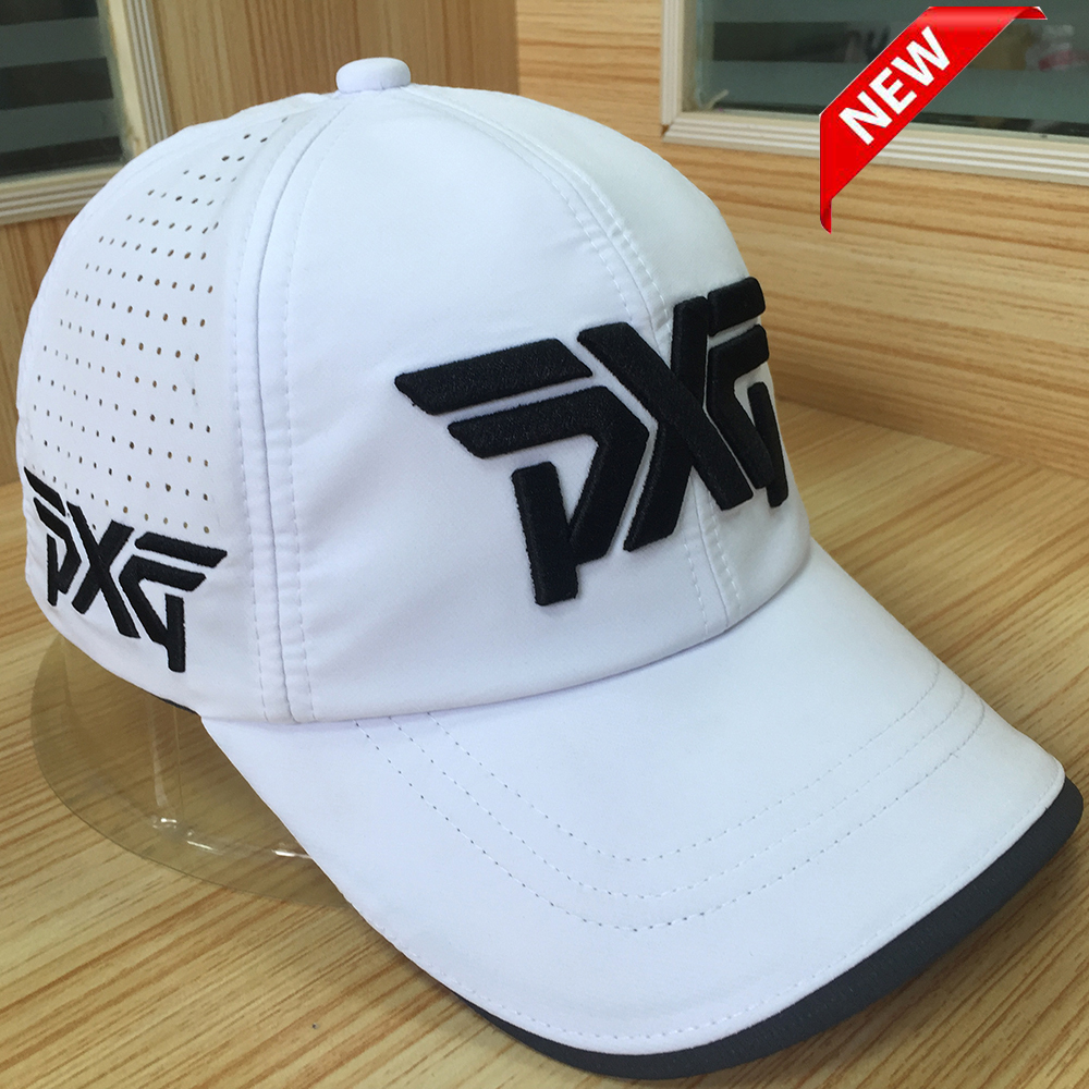 2018 New golf hat PXG cap Professional hat cotton golf ball cap High Quality sports golf hat breathable sports golf hats trendy cotton fedora hat cap black