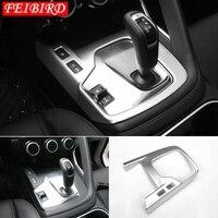 For Jaguar E pace E pace 2018 2019 Accessories Stalls Gear Shift Box Panel Cover Trim ABS Matte / Carbon Fiber