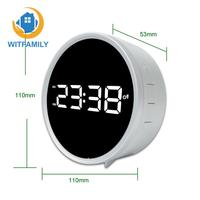 FM Radio Snooze Function Alarm Clock Digital LED Clock Table Watch Timer Display Double Ring White Black Desk Electronic