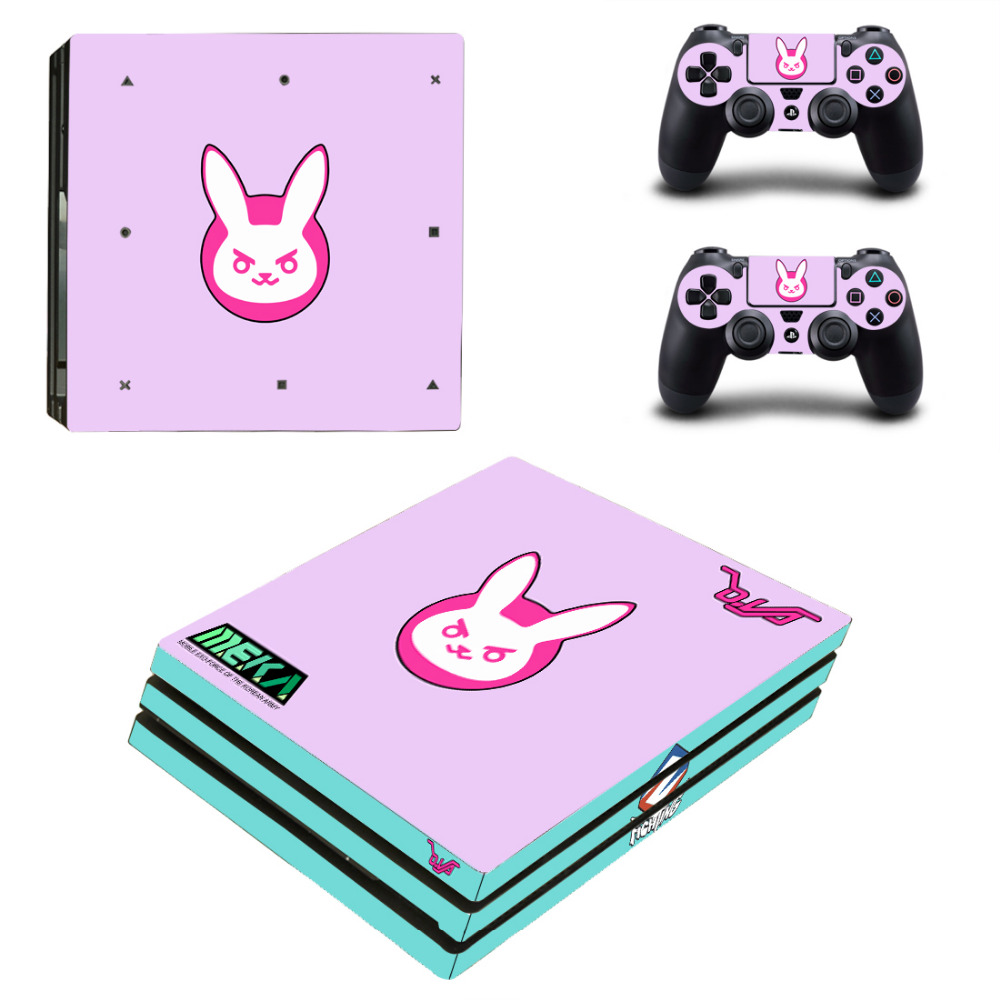 Game For Overwatch PS4 Pro Skin Sticker For Sony PlayStation 4 Console and 2 Controllers PS4 Pro Skin Stickers Decal Vinyl