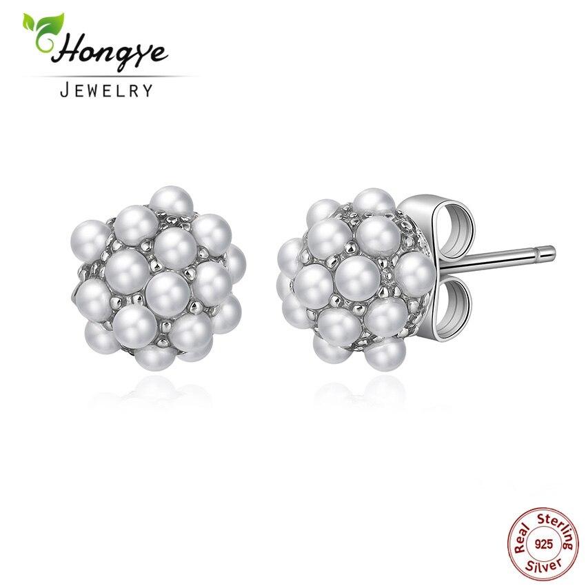 Hongye 2017 Fashion Vintage Pearl Stud საყურეები - ლამაზი სამკაულები - ფოტო 1