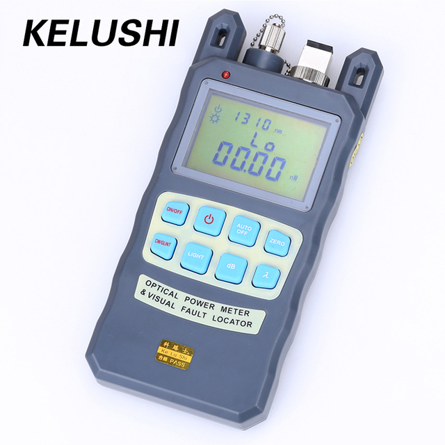 KELUSHI FTTH All IN ONE Fiber Optical Power Meter  70~+10dbm 1mw 5km Cable Tester Red Laser Visual Fault Locator Testing Tool