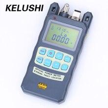 KELUSHI medidor de potencia óptica de fibra FTTH, todo en uno, 70 ~ + 10dbm, 1mw, 5km, probador de Cable, localizador láser rojo, herramienta de prueba de fallos visuales