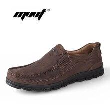 Los hombres de cuero genuino zapatos de los planos holgazanes hombres de moda, hecho a mano de la marca de los hombres zapatos, mocasines para hombre Zapatos Hombre