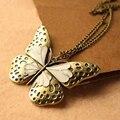1 unids Moda Mujeres Hueco de La Mariposa Colgante Largo Collar Suéter Cadena H6950 P0.41