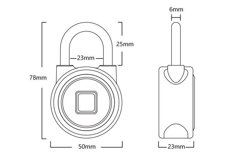 HTB1mGn4lJcnBKNjSZR0q6AFqFXaT Waterproof Keyless portable Bluetooth smart Fingerprint Lock padlock Anti-Theft iOS Android APP control door cabinet padlock