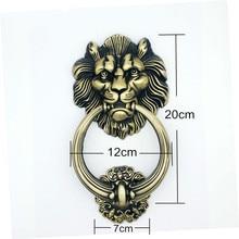 JD 20 см Большой античный лев дверной молоток Львиная голова дверные ручки Львы домашний декор оборудование для обработки мебели
