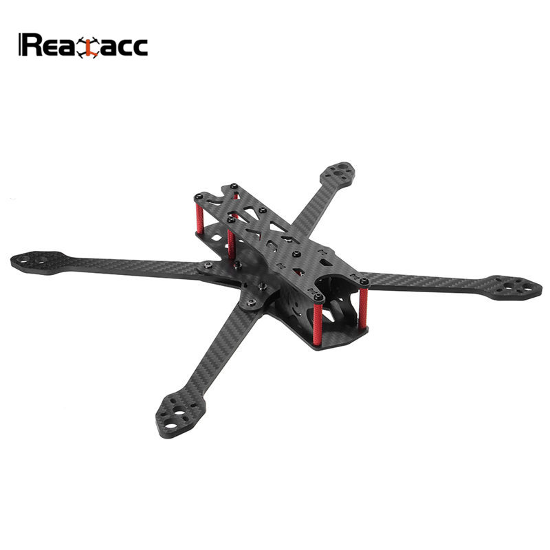 Realacc Martian IV 7 Inch 300mm Wheelbase 4mm Arm Carbon Fiber Frame Kit For RC Racing Drone FPV Models Spare Part DIY Accs realacc dkb220 220mm 5 inch 4mm arm thickness carbon fiber frame kit for fpv racer drone diy rc multirotor quadcopter parts accs