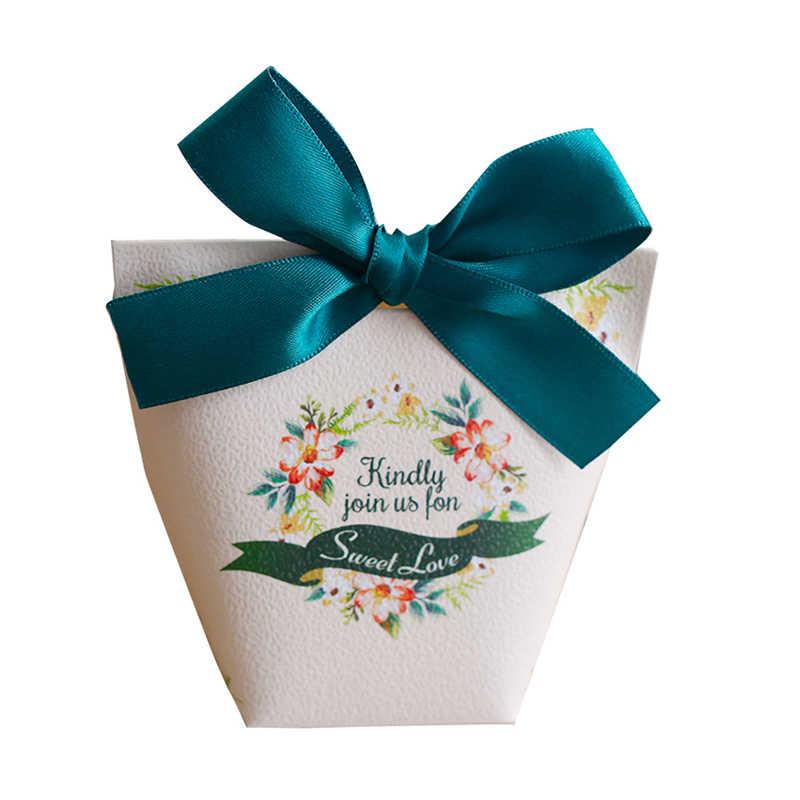 YOURANWISH 20 pcs alta qualidade caixa dos doces favores e presentes de casamento decoração de festa de papel caixas de presente do chuveiro de bebê sacos de suprimentos