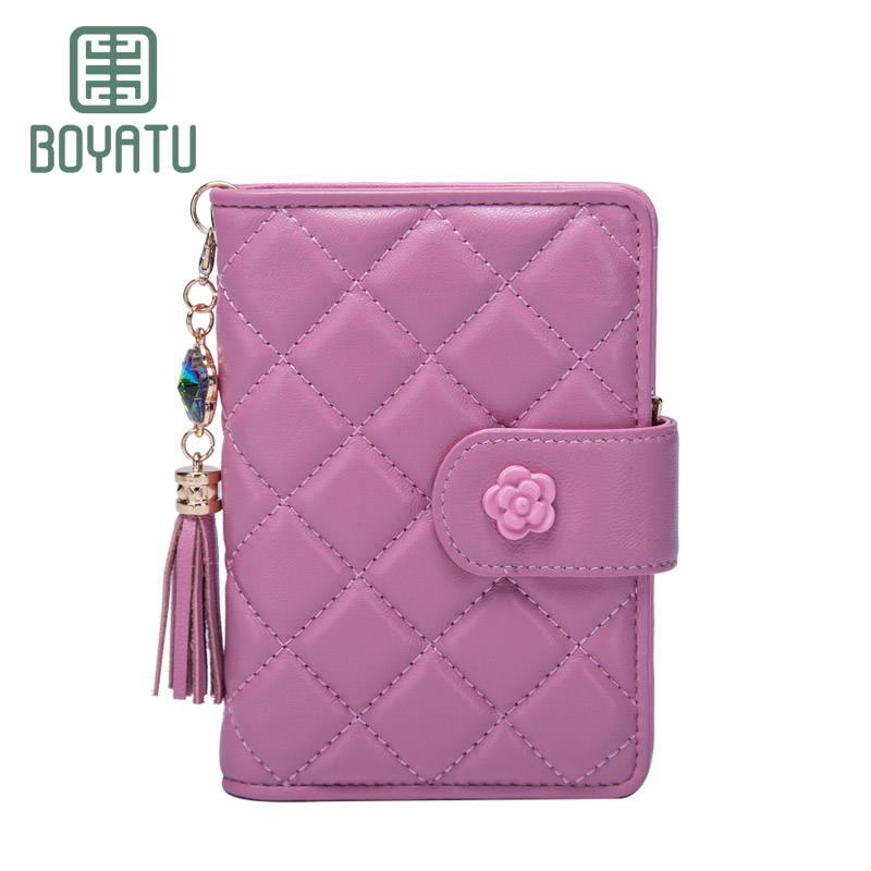 BOYATU Wristlet Women Wallets Brand Design High Quality Genuine Leather Wallet Female Hasp Fashion Dollar Price Card Holder contact s women wallets brand design high quality genuine leather wallet female hasp fashion dollar price long purse card holder
