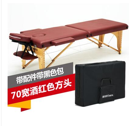 Купить с кэшбэком Original point folding massage table portable household massage moxibustion body physical therapy and beauty bed.