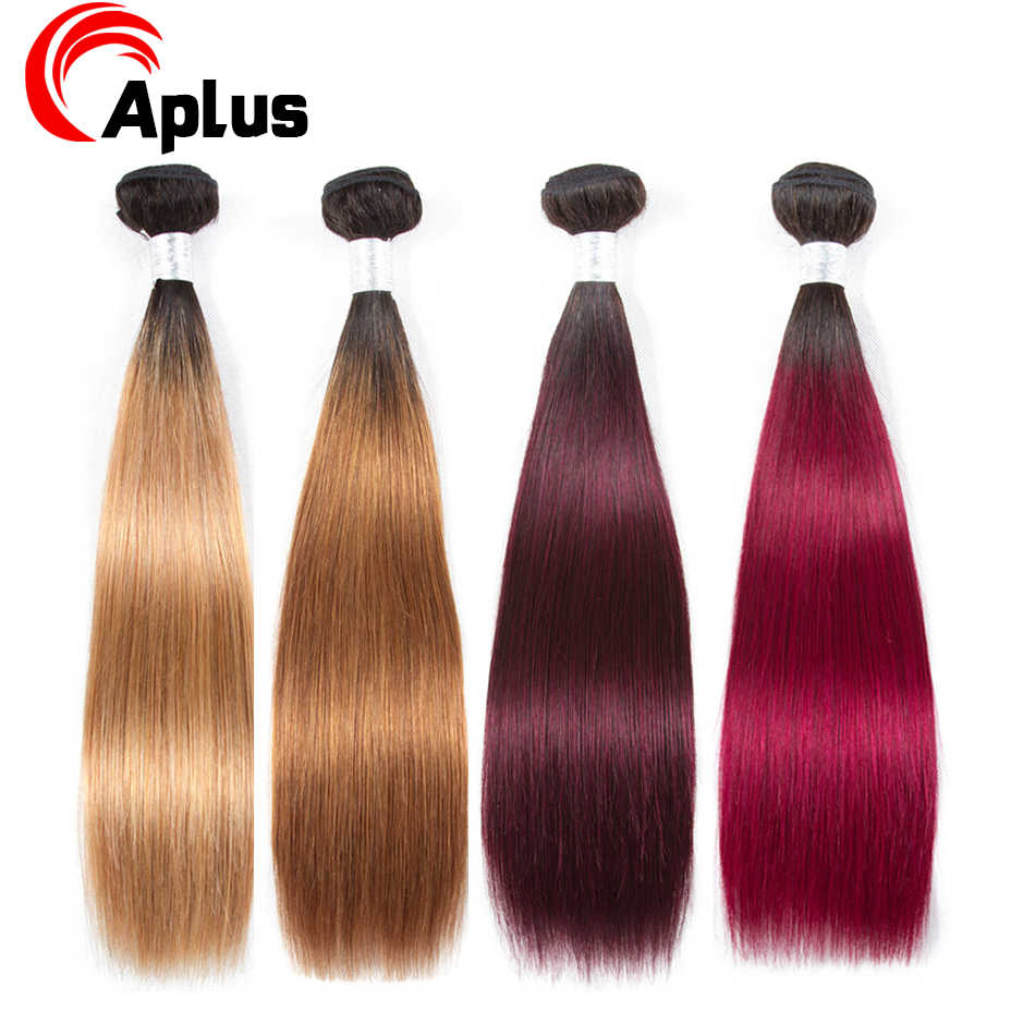 Aplus Pre-colored Bundle Deal Brazilian Hair Extensions Straight 1 Piece/Lot Can buy 3/4 bundles or More Colored Hair  Non Remy