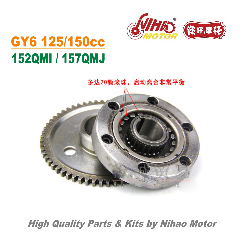 TZ-38 <font><b>125cc</b></font> 150cc 20 Beads Overrunning Clutch GY6 Parts Chinese Scooter Motorcycle 152QMI 157QMJ Engine Spare Nihao <font><b>Motor</b></font> image