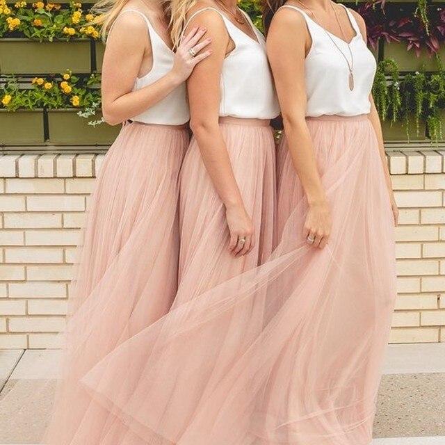 Cheap Sleeveless V Neck Chiffon Bridesmaid Dresses Deep