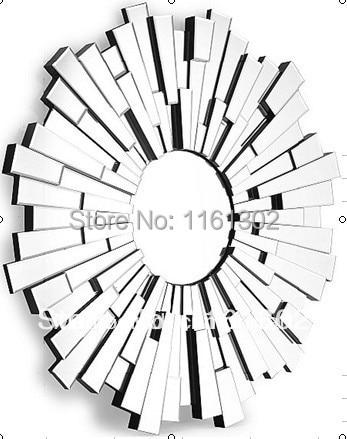 MR 201124 sunburst 3D design wall mirror-in Decorative ...