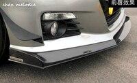 PASSWORD JDM style 3pcs real Carbon fiber/primer FRP Car body front lip For Toyota FT86 GT86 SCION FR S SUBARU BRZ 2013 2017