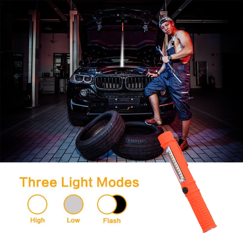 COB LED Mini Pen Multifunction Working Inspection Light Portable Maintenance Flashlight Hand Torch Lamp With Magnet AAA