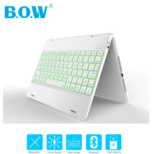 [NEW] B.O.W 4.0 Bluetooth Wireless Keyboard For New iPad Pro 9.7 inch, Air 2/Air 1, Rubber Feel Matted Aluminum Case