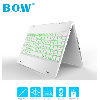 [NEW] B.O.W 4.0 Bluetooth Wireless Keyboard For New iPad Pro 9.7 inch, Air 2/Air 1, Rubber Feel Matted Aluminum Keyboard Case