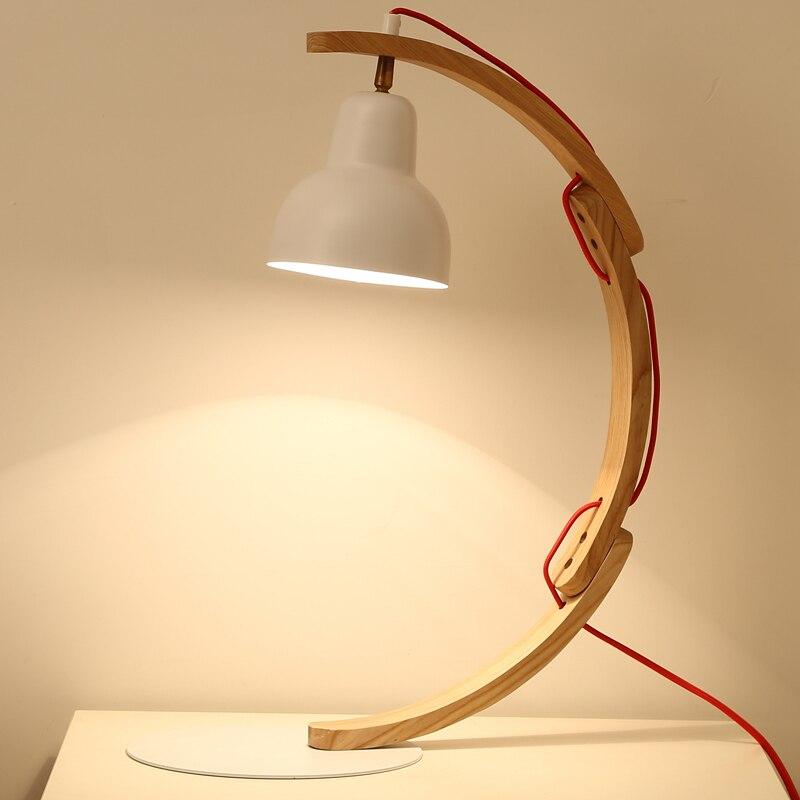 Изучение Настольные лампы творческий спальня прикроватный лампа настольная лампа глаз Стильный японский Деревянный светильник lu824438