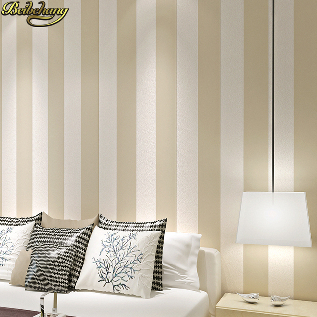 Beibehang blanco y negro dormitorio simple moderno vertical pared ...
