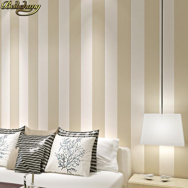beibehang blanco y negro dormitorio simple moderno vertical pared papel pintado a rayas verticales saln estudio - Papel Pintado Rayas Verticales