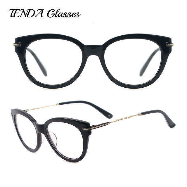 Women Eyeglasses Acetate Spectacles Big Round Glasses Frames For ...