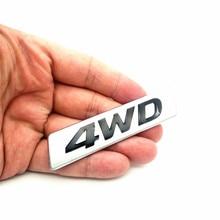 3D Car Styling Chrome Metal Sticker AWD Emblem 4WD Badge Logo Tail Fender Decal for Toyota Impreza Honda 4X4 Off Road SUV стоимость