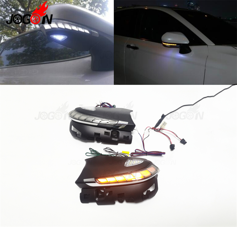 Car LED Dynamic Blinker Sequential With Courtesy And Parking Light For Toyota Camry XV70 C-HR CHR Prius XW50 2018 2019
