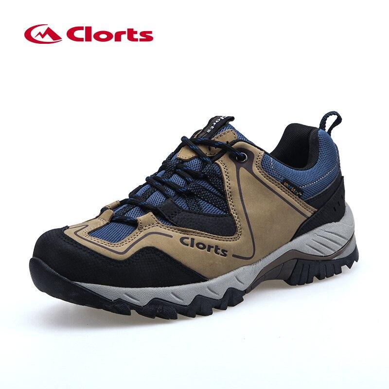 Clorts Trekking Chaussures pour Hommes Première Couche En Cuir Low Cut Chaussures de Randonnée Imperméable À L'eau En Plein Air Sport Sneakers HKL-826