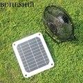 BUHESHUI 6 Вт Железный вентилятор 8 дюймов охлаждающий вентилятор для автомобиля + солнечная панель с питанием для путешествий  рыбалки  дома  оф...
