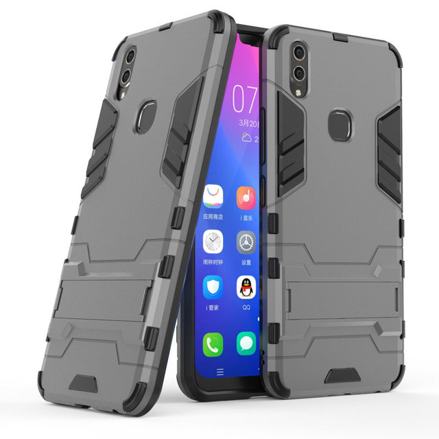 innovative design 2986c 3a5e6 US $3.99 |for vivo V9 Y85 3D Luxury Shockproof Hard case for vivo Y81 Y71  for vivo V7 Plus V7Plus Y75 Y79 Combo Armor case cover-in Fitted Cases from  ...