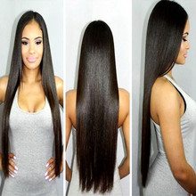 Synthetic Hair Long Straight Lace Front Wigs Heat Resistant Soft  Black Cheap Wig For Women