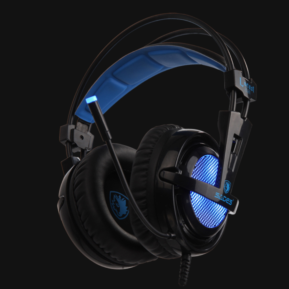 SADES Locust Plus Virtual 7.1 Surround Sound Headphones RGB Gaming Headset USB Wired headband Earphones each g1100 shake e sports gaming mic led light headset headphone casque with 7 1 heavy bass surround sound for pc gamer