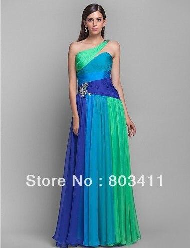 Greeny Blue Grad Dresses