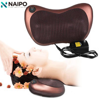 Naipo 8 Rollers Health Care Heat Massage Electric Pillow Deep Kneading Massager Relax Neck Shoulder Pain