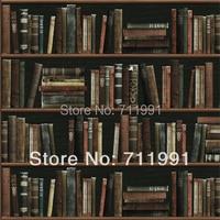 Free shipping modern minimalist fashion personalized pop art bookshelf wallpaper wallpaper background wallpaper