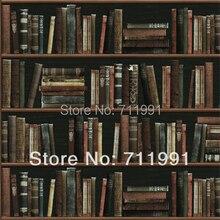 Free Shipping Modern Minimalist Fashion Personalized Pop Art Bookshelf Wallpaper Background WallpaperChina