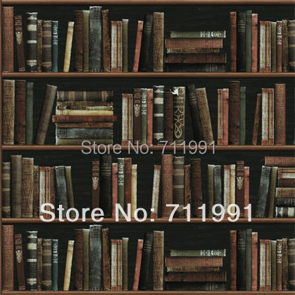 Free Shipping Modern Minimalist Fashion Personalized Pop Art Bookshelf Wallpaper Background